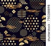 beautiful japanese seamless ... | Shutterstock .eps vector #750288898