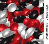 red white black hemispheres... | Shutterstock .eps vector #750293836