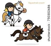 equestrian event  horse trials  ... | Shutterstock .eps vector #750302686