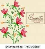 abstract flowers background... | Shutterstock .eps vector #75030586