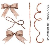 Set Of Bow From Rope  Ribbon...