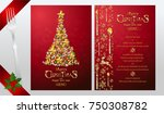 christmas greeting and new...   Shutterstock .eps vector #750308782