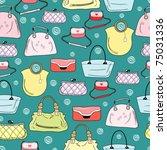 pattern of women's handbags | Shutterstock .eps vector #75031336