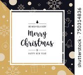 christmas icon elements card... | Shutterstock .eps vector #750314836