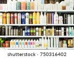 barcelona  spain   march 17 ... | Shutterstock . vector #750316402