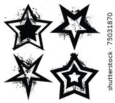 black and white grunge star... | Shutterstock .eps vector #75031870