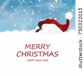 merry christmas. happy new year.... | Shutterstock . vector #750322015