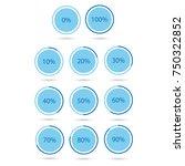 vector illustration blue round  ... | Shutterstock .eps vector #750322852