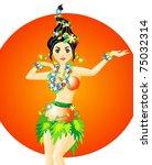 vector illustration of hula... | Shutterstock .eps vector #75032314