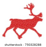 vector christmas reindeer with... | Shutterstock .eps vector #750328288