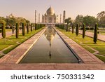 morning in taj mahal  india | Shutterstock . vector #750331342