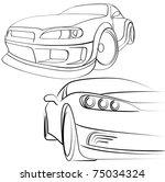 car | Shutterstock .eps vector #75034324