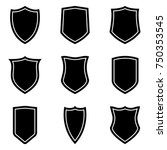 shield icons set | Shutterstock .eps vector #750353545