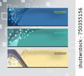 vector illustration of abstract ... | Shutterstock .eps vector #750355156