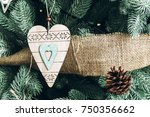 photo of decorations on a... | Shutterstock . vector #750356662