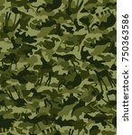 seamless camouflage background... | Shutterstock .eps vector #750363586