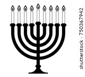 menorah for hanukkah.... | Shutterstock .eps vector #750367942