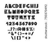 alphabet in scandinavian style. ... | Shutterstock .eps vector #750370492