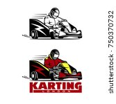kart racing winner  logo... | Shutterstock .eps vector #750370732