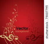 abstract musical background... | Shutterstock .eps vector #75037795