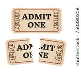 ripped vintage paper ticket... | Shutterstock .eps vector #750380356