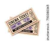 two vintage tickets to the... | Shutterstock .eps vector #750380365
