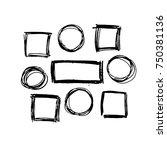 black vector  strokes of marker ... | Shutterstock .eps vector #750381136