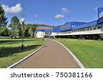 residential building of the... | Shutterstock . vector #750381166