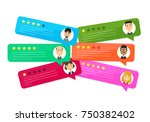 review rating bubble speeches.... | Shutterstock . vector #750382402