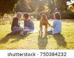 family of mother  father and... | Shutterstock . vector #750384232