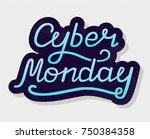 vector illustration of cyber... | Shutterstock .eps vector #750384358