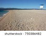 empty golden cape horn beach in ... | Shutterstock . vector #750386482