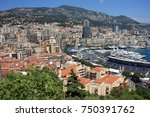 view over monaco from castle | Shutterstock . vector #750391762