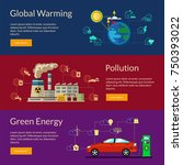 set of flat ecological vector... | Shutterstock .eps vector #750393022
