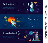 space banners and flyers with... | Shutterstock .eps vector #750393202