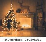 defocused interior with... | Shutterstock . vector #750396082