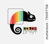 chameleon logo concept.... | Shutterstock .eps vector #750397708