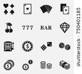 set of casino elements vector... | Shutterstock .eps vector #750401185