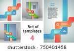 set ribbon promotional products ... | Shutterstock .eps vector #750401458