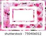 chrysanthemum  background...   Shutterstock . vector #750406012
