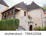medieval houses in the village... | Shutterstock . vector #750412336