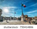 rome  italy   october 12  2017  ...   Shutterstock . vector #750414886