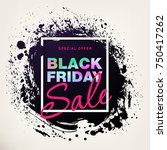 black friday sale poster with... | Shutterstock .eps vector #750417262