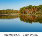 View Of A Lake  Mirror Effect...