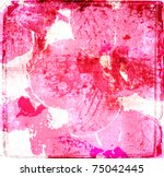 Grunge Orchid Flowers Poster