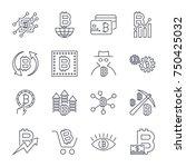 blockchain  cryptocurrency... | Shutterstock .eps vector #750425032