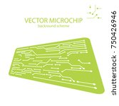 vector microchip background.... | Shutterstock .eps vector #750426946