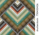 striped tribal geometric... | Shutterstock .eps vector #750433426