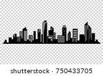 vector city silhouette.... | Shutterstock .eps vector #750433705