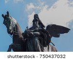 close up the monument of a... | Shutterstock . vector #750437032